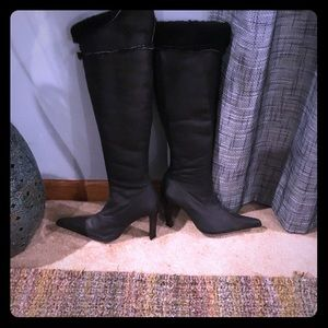 Tall Shearling Boots